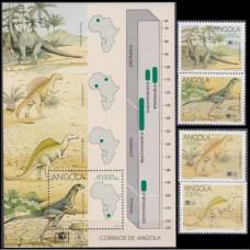 1994 Angola Mi.964-967+968/B18 Dinosaurs 16,00 €