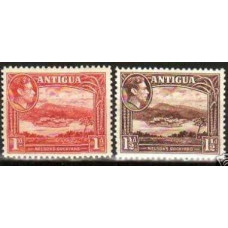 1938 Antigua Michel 79-80** George VI 6.30 €