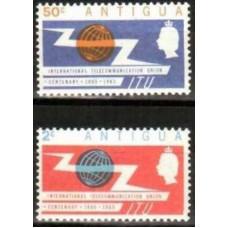 1965 Antigua Michel 142-43** ITU 1.50 €