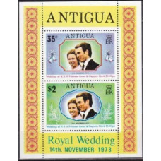 1973 Antigua Mi.310-11/B10 Princess Anne 0,80 €