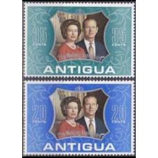 1972 Antigua Mi.184-185 Elizabet II 0,70 €