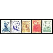 1960 Argentina Mi.715-719 Child welfare, birds 6,50 €