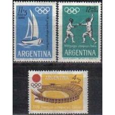 1964 Argentina Michel 843-845 1964 Olympiad Tokio 2.00 €