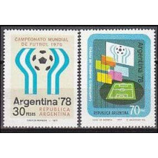 1977 Argentina Michel 1299-1300 1978 World championship on football of Argentina 1.70 €