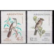 1962 Argentina Mi.806-807 Child welfare, birds 4,00 €