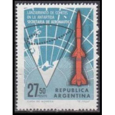 1966 Argentina Mi.898 Rocket / Ground Track 1,20 €