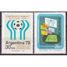 1977 Argentina Mi.1299-1300 1978 World championship on football of Argentina 1,70 €