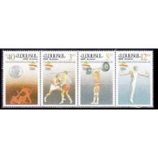 1992 Armenia Mi.199-202strip 1992 Olympiad Barselona 3,50