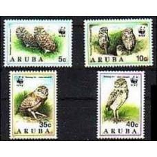 1994 Aruba Mi.134-137 WWF, owls 4.20 €
