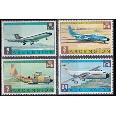 1975 Ascension Mi.185-188 Planes 13,00