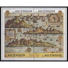 1981 Ascension Mi.295-298/B12 Ships with sails