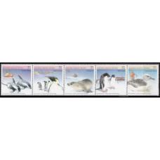 1988 Australian Antarctic Territory Mi.79-83 Sea fauna 6,00 €