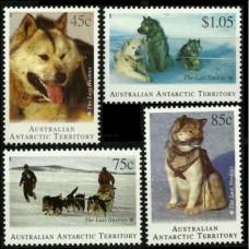1994 Australian Antarctic Territory Mi.98-101 Dogs