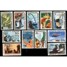 1966 Australian Antarctic Territory Mi.8-18 Definitives 75,00 €