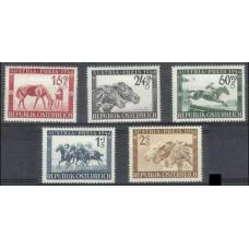 1946 Austria(R.Qsterreich) Mi.785-89 Horses 15,00 €