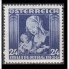 1936 Austria(R.Qsterreich) Mi.627 Durer