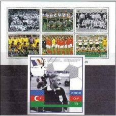 1997 Azerbaijan Michel 399-404KL+405/B33 1998 World championship on football of France 10.60 €