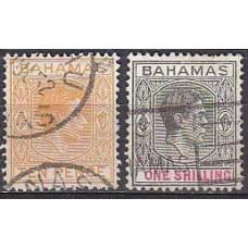 1938/46 Bahamas Mi.116-17used George VI 1.10 €