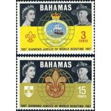 1967 Bahamas Michel 272-273 Elizabet II / Scaut 1.40 €