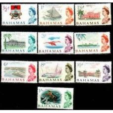 1965 Bahamas Mi.209-218** Elizabet II 7.20 €