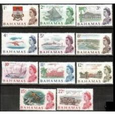 1967 Bahamas Mi.257-267** Elizabet II 12.00 €