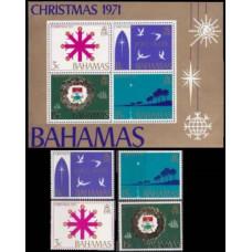 1971 Bahamas Mi.336-39+B4 Christmas 5,20 €