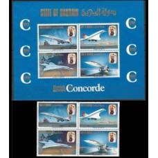 1976 Bahrain Mi.248-51VB+248-51/B1b Planes 38,00 €