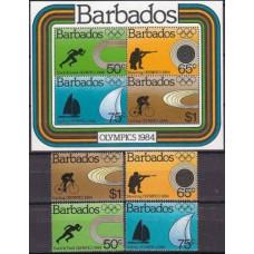 1984 Barbados Michel 600-603+600-603/B17 1984 Olympiad Los Angeles 15.50 €