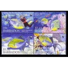2006 Barbados Mi.1119-1122VB Sea fauna /WWF 5,00 €