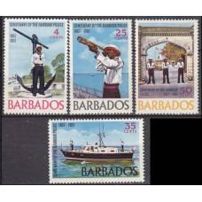 1967 Barbados Mi.262-265 Ships 2,20 €