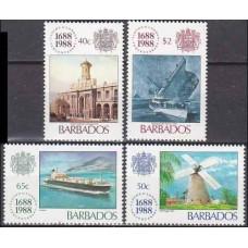 1988 Barbados Mi.705-708 Ships 8,00 €