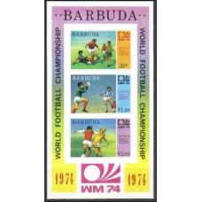 1974 Barbuda Michel 175-177/B8b 1974 World championship on football of Munchen €