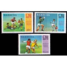 1974 Barbuda Mi.175-177 1974 World championship on football of Munich 3,00 €
