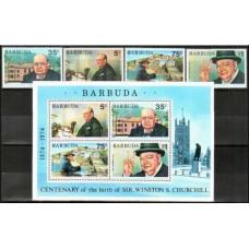 1974 Barbuda Mi.202-05+B11 Churchill 5.20 €