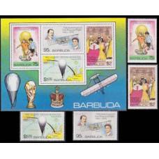 1978 Barbuda Mi.430-433+B39b 1978 World championship on football of Argentina 15,00