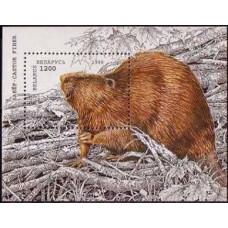 1996 Belarus Mi# 122 (B) Fauna Beaver