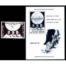 1969 Belgium Mi.1565+1566/B40 Apollo 11 3,00 €