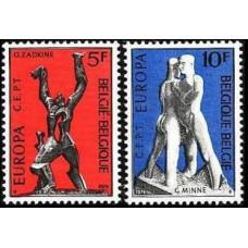 1974 Belgium Mi.1756-1757 Europa 1,50