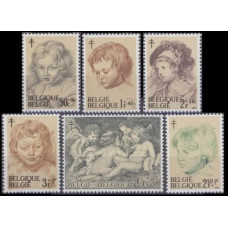 1963 Belgium Mi.1332-1337 Piter Paul Rubens