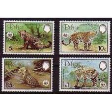 1983 Belize Mi.719-722 Cats 6.50 €