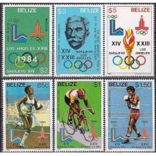 1981 Belize Michel 563-568 1980 Olympiad Moskva 32.00 €