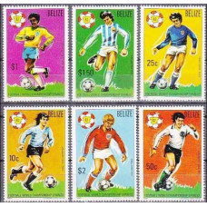 1982 Belize Michel 614-619 1982 World championship on football of Spanien 35.00 €
