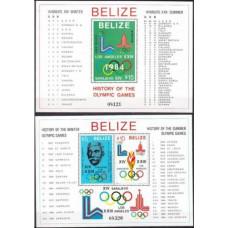 1981 Belize Mi.569-570/B36+571/B37 1980 Olympic Moscow 100,00