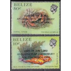 1984 Belize Mi.745-746 Overprint # 735-38 5,30 €