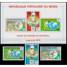 1978 Benin Mi.132-134+135-137/B4 1978 World championship on football of Argentina 26,00 €