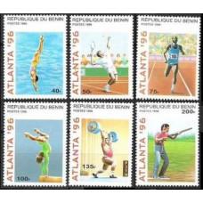 1996 Benin Mi.764-769 1996 Olympiad Atlanta 5.00