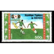 1986 Benin Mi.440 1986 World championship on football of Mexico 5.00