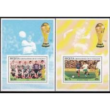 1986 Bequie - Grenadines (St V) Michel 189/B5+190/B6 1986 World championship on football of Mexico 2.70 €