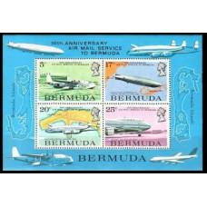 1975 Bermuda Mi.307-310/B2 Planes 15.00 €