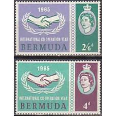 1965 Bermuda Michel 188-189 Elizabet II 3.20 €